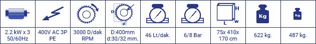 KD 402 S - ÇİFT KAFA KESME MAKİNESİ