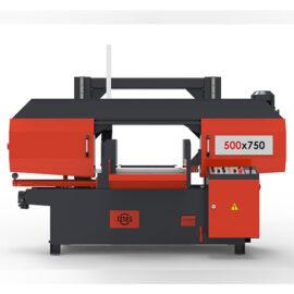 500x750 Yarı-Otomatik Sütunlu Şerit Testere Makinası